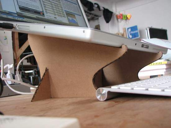 Cardboard Laptop Stand Do-It-Yourself Ideas Recycled Cardboard