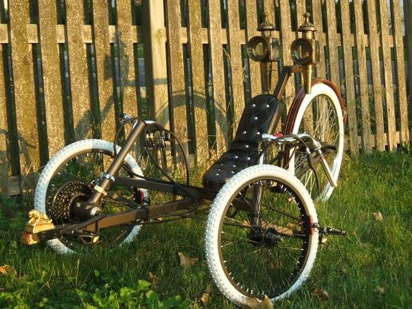 Brass Lion Tricycle Upcycled Bicycle Parts
