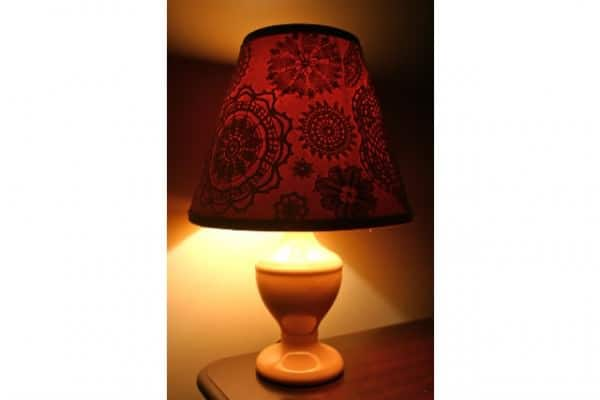 Crochet Doily Decorated Lampshades Lamps & Lights