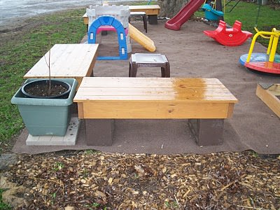 Diy: Chimney Block Benches Do-It-Yourself Ideas Recycled Furniture