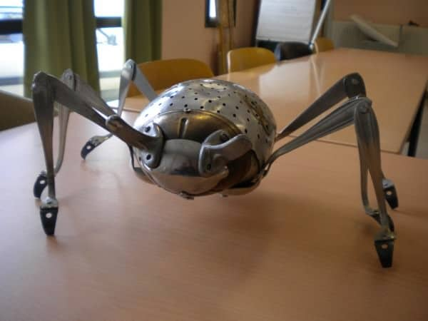 Kitchen Insect Recycled Art Recycling Metal