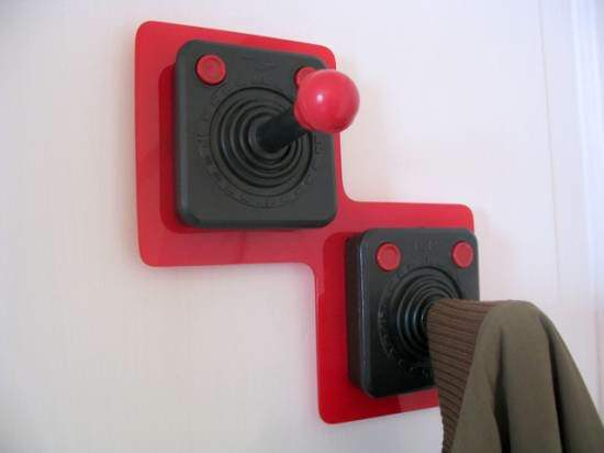 Old Joystick Into Coat Rack Recycled Electronic Waste