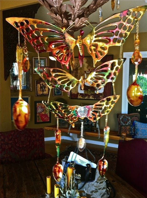 Recycled Found Objects Wind Chimes Accessories Do-It-Yourself Ideas