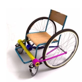 Recycled Wheelchairs Upcycled Bicycle Parts