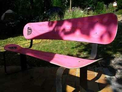 Snowboard Bench Interactive, Happening & Street Art Recycled Furniture