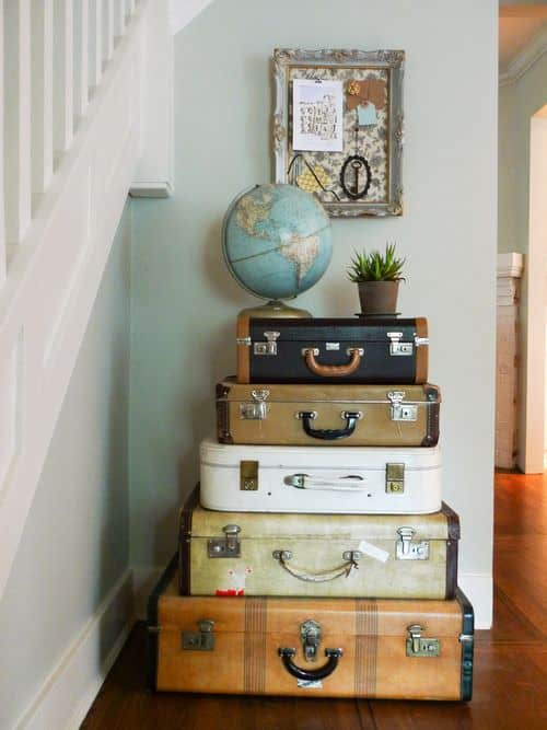 Vintage Suitcases Furnitures Do-It-Yourself Ideas Recycled Furniture