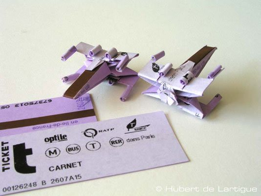 X-wing Origami Recycling Paper & Books