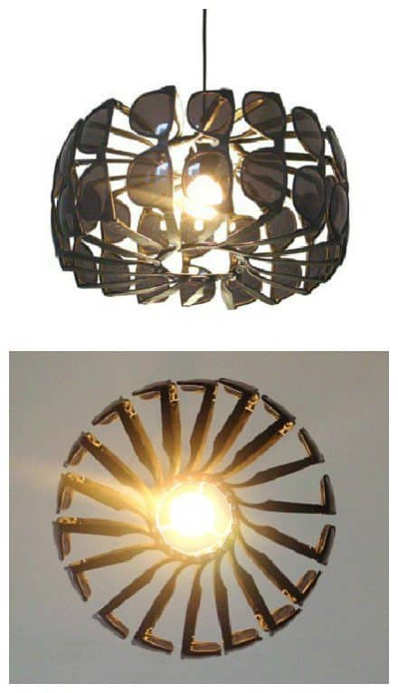 Upcycled Sunglasses Chandelier