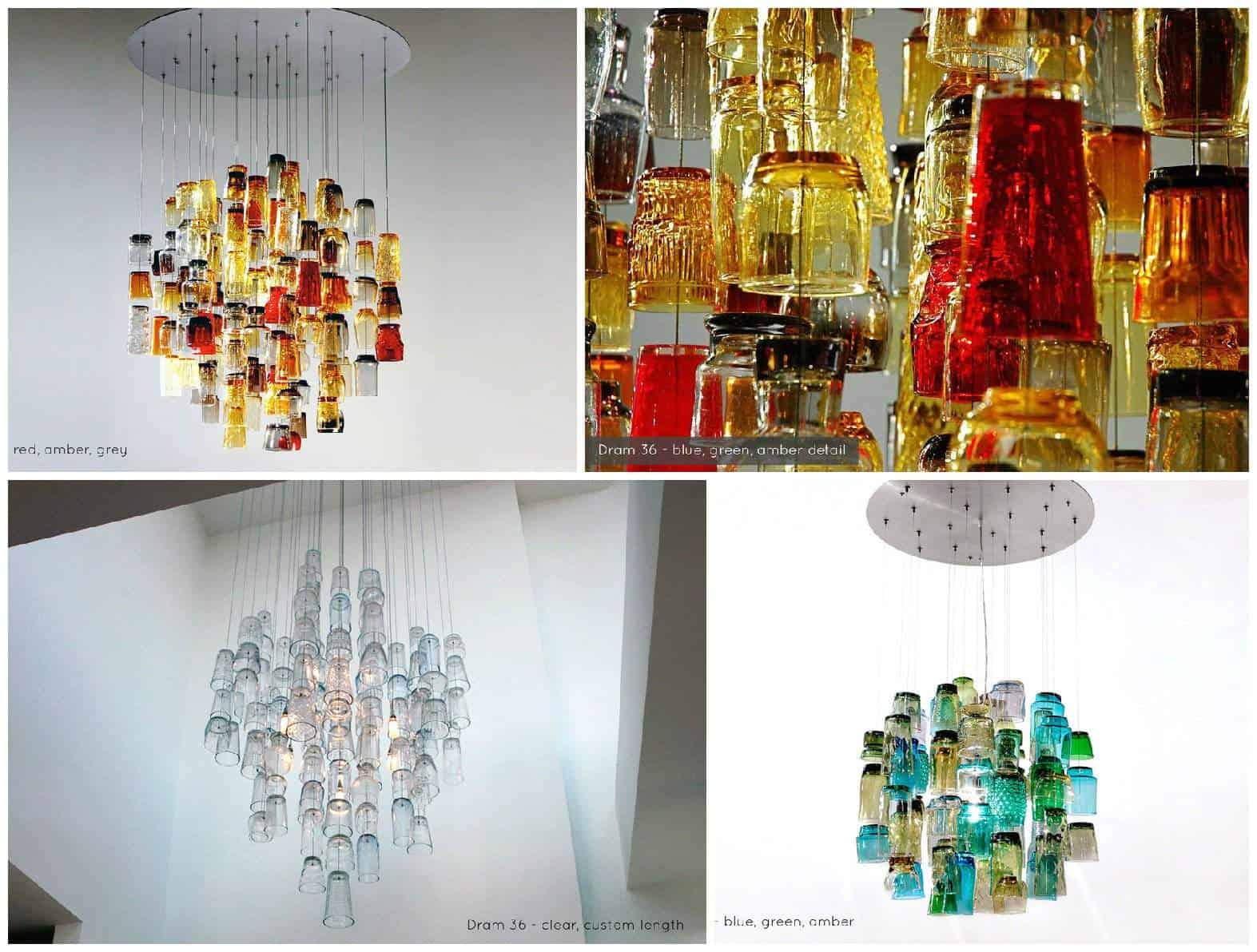 Dram glasses chandeliers recyclart aloadofball