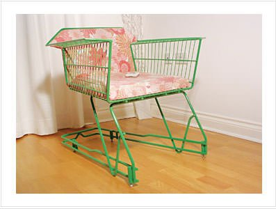 Annie: Shopping Trolley Chair Recycled Furniture