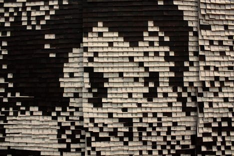 Astro Boy Made from Metro Tickets Recycled Art