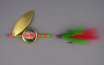 Bottle Cap Fishing Lure Recycled Packaging