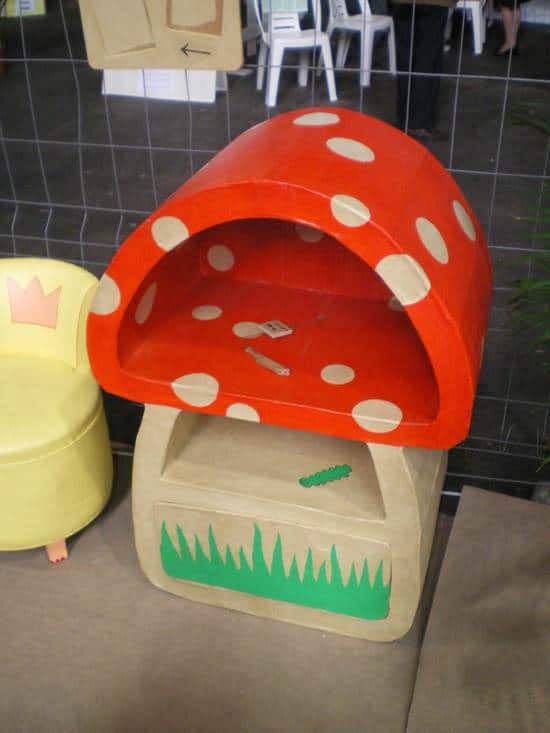 Carboard Mushroom Recycled Cardboard Recycled Furniture