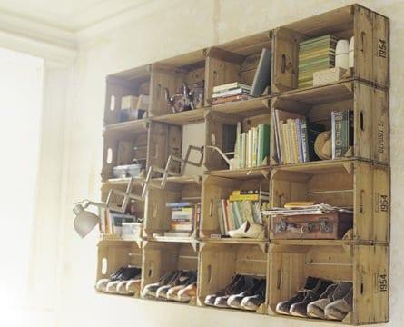 Apple Crates Shelves Wood & Organic