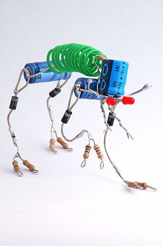 Electronic Sparebots Recycled Art Recycled Electronic Waste