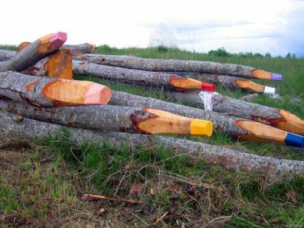 Giant Wooden Pencils