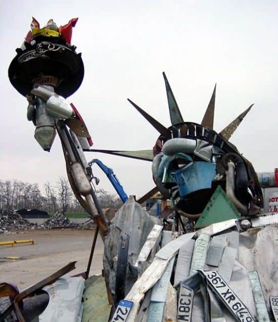 Statue of Liberty by Bernard Pras Recycled Art