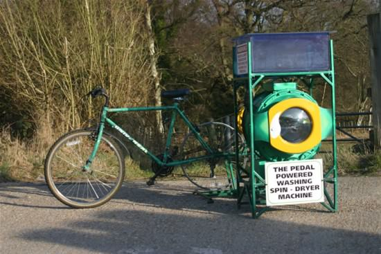 Cyclean: The Pedal-powered Washing Machine Upcycled Bicycle Parts