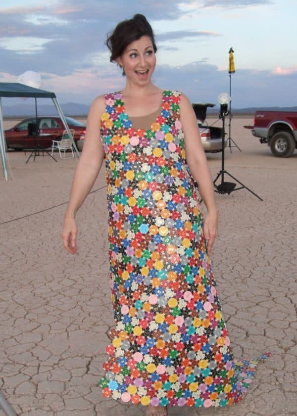 Dress From Upcycled Casino Chips Accessories Recycled Plastic