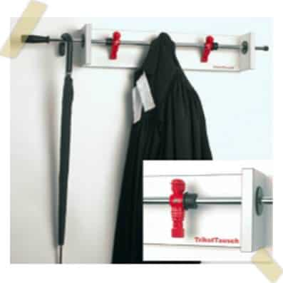 Foosball Coat Rack