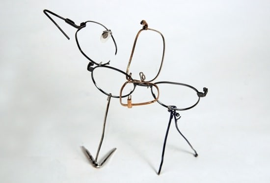 Glasses Morphing Recycled Art