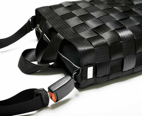 Upcycled Seat Belt Into Handbag Accessories
