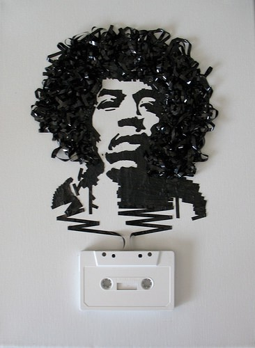 Recycled Cassette Tape Portraits Recycled Art Recycled Electronic Waste
