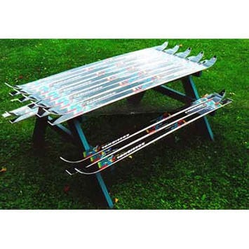 Ski Picnic Table Recycled Furniture