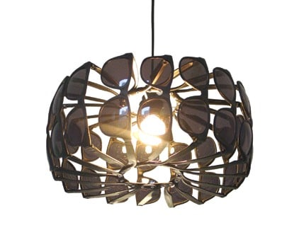 Upcycled Sunglasses Chandelier Lamps & Lights