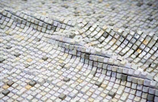 Textile Recycled Art Recycled Electronic Waste