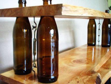 Wine Bottles Shelves