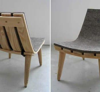 Wood & Felt Chair