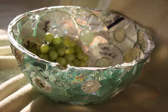Fruit Bowl out of Cds Accessories Recycled Plastic