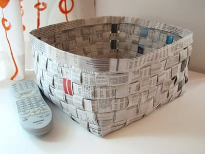 Diy : Newspaper Basket Do-It-Yourself Ideas Recycling Paper & Books