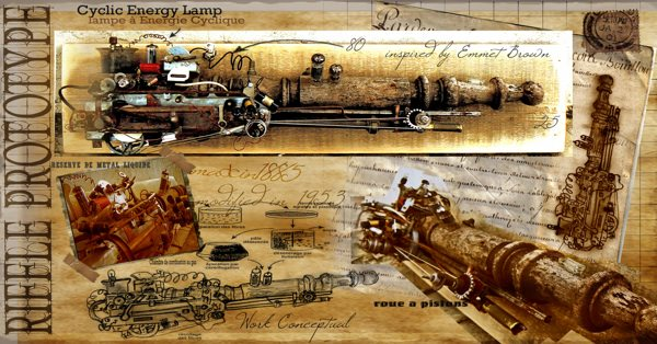 Steampunk Riffle Prototype Recycled Art