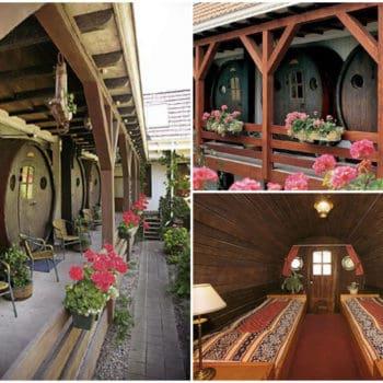 Wine barrel hotel