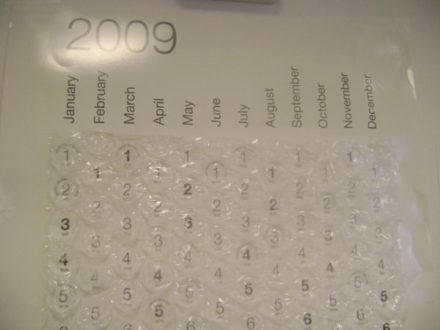 Diy Bubble Calendar