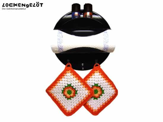 Rock & Roll Kitchen: Paper Towel Holder Made Of Vinyl Records Recycled Vinyl