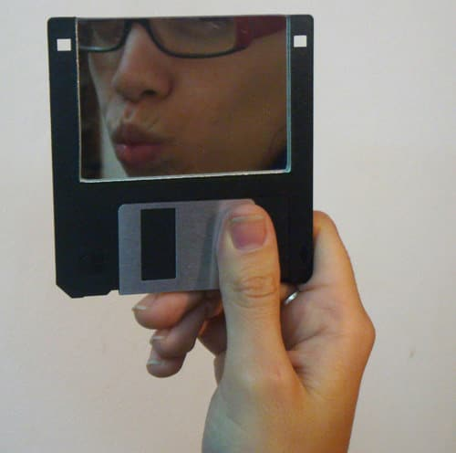 Floppy Disk Mirror Do-It-Yourself Ideas Recycled Electronic Waste