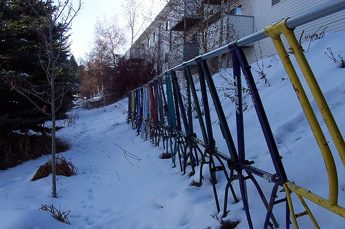 Bike Frame Fence Upcycled Bicycle Parts