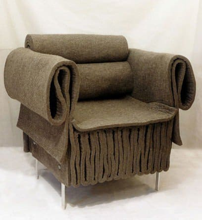 Felt Armchair Clothing Recycled Furniture