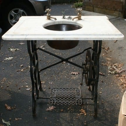 Sewing Machine Sink Stand Recycled Furniture