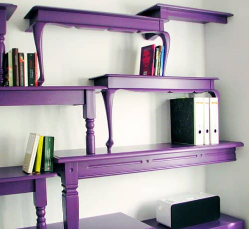 Storyteller: Bookcase Made Out Of Repurposed Tables Recycled Furniture