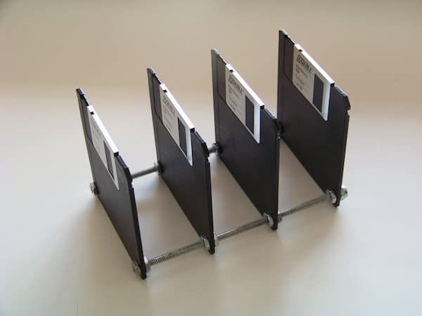 Floppy Disk Paper Holder Recycled Electronic Waste