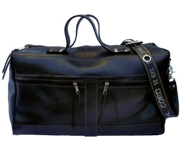 Travel Bag from Inner Tubes Recycled Rubber