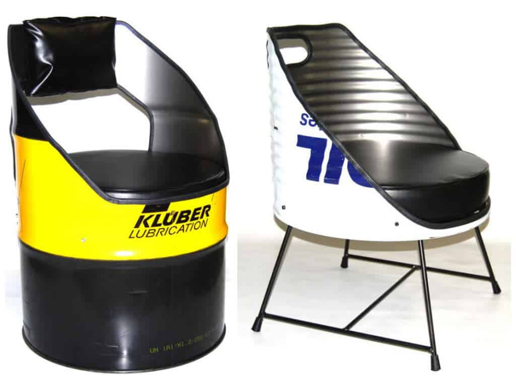 Oil Drum Repurposed Into Seats By Vaho Recyclart