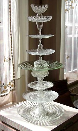 Glass Cake Stand Recycled Glass