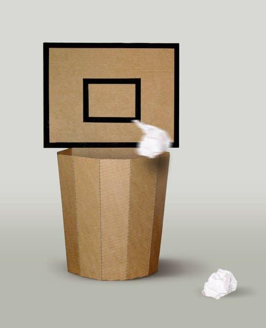 Cardboard Basket Bin Recycled Cardboard