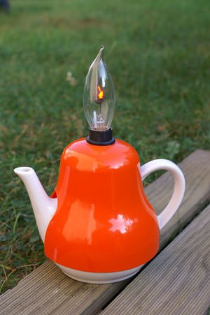 Vintage Teapot Upcycled Into Ambient Light Lamps & Lights
