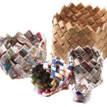 DIY: Newspaper Baskets